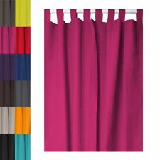 Extra Long Tab Top Curtain Panel Raspberry Pink Extra Long New UK SELLER
