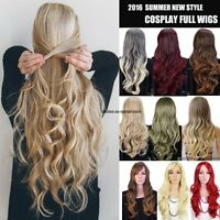 Cheap Price Long Straight Curly Wavy Wig Cosplay Full Wigs Party Fancy Dress UK