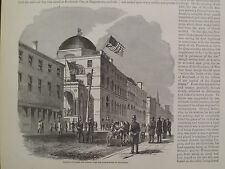 Baltimore Maryland Stars And Stripes Over The Custom House Civil War 1861