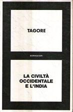 Mu48 La civiltà occidentale e l'India Tagore Boringhieri II ed 1986