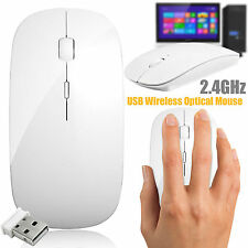 NEW USB OPTICAL WIRELESS CORDLESS 2.4 GHz SCROLL MOUSE PC LAPTOP WINDOWS MAC UK