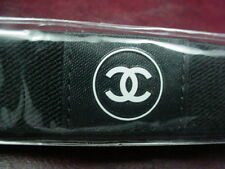 * NEW in PACKAGE * CHANEL BEAUTE Elastic HEADBAND Black with CC & CHANEL Logo