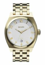 NIXON MONOPOLY GOLD TONE 40MM UNISEX Watch A325-1219-00 NEW! $225.00