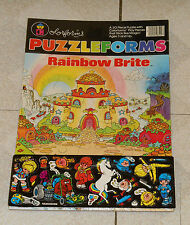 vintage RAINBOW BRITE PUZZLEFORMS sealed colorforms jigsaw puzzle