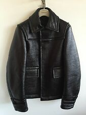 MENS BURBERRY PRORSUM AW13 DONKEY JACKET LAMINATED COTTON PATENT SIZE 48 COAT