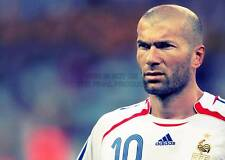 ZINEDINE ZIDANE FOOTBALL France A3 ART PRINT POSTER gz5638