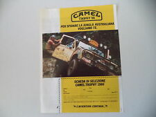 advertising Pubblicità 1985 CAMEL TROPHY '86 e LAND ROVER