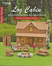 Log Cabin Set Plastic Canvas Patterns Best of Mary Maxim 25 Pcs Indoor & Out NEW