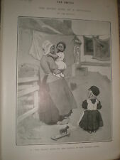 Seven Ages of a Dutchman The Infant by Tom Browne 1902 print ref Z