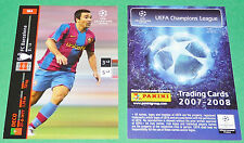 DECO FC BARCELONA FOOTBALL TRADING CARDS PANINI CHAMPIONS LEAGUE 2007-2008