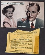 "Original BING CROSBY SIGNED AUTOGRAPHED cut ""To Georgie"" + vintage postcard"