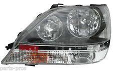 New Replacement Chrome Housing Halogen Headlight LH / FOR 1999-03 LEXUS RX300