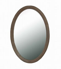 French Provincial Oval Mirror in Wash White