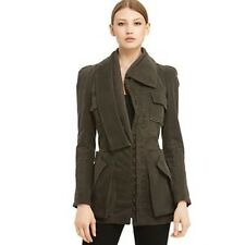 NWT Stunning Nanette Lepore Dr. No Jacket Army Green MSRP $498 Size 12