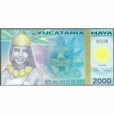 TWN - YUCATANIA 2000 2.000 Soles 2012 Polymer UNC private issue