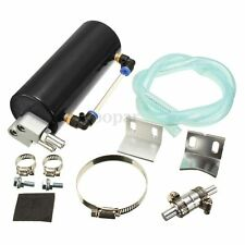 Universal Rally Race Oil Catch Tank/CAN Reservoir Turbo Billet Black Round Car