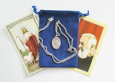 Wonderful St. Padre Pio Saint Medal w/ 24 Inch Necklace