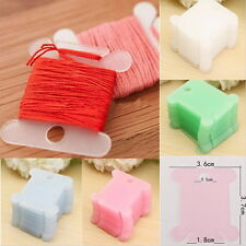 100pcs Plastic Embroidery Floss Craft Stitch Thread Bobbins for Storage Holder