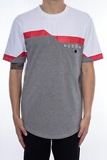 New Men's Hudson Outerwear Pocket T-Shirt White/Red/Grey Size Small Brand New!