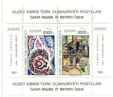 EUROPA CEPT - NORTHERN CYPRUS 1993 Contemporary Art block