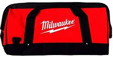 "New Large Milwaukee 22"" Heavy Duty Canvas Drill,Tool Bag/Case, 18V 12 14 18 Volt"