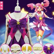 LOL League of Legends Lux Cosplay Costume Star Guardian Skin Lolita dress +Track