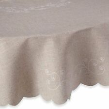 """New Lenox Lenox French Perle Linen Color 70"""" Round Tablecloth"""