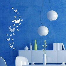 25pc Butterfly Acrylic Mirror DIY Wall Home Decal Mural Decor Art Stickers