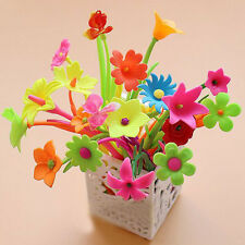 20pcs Mixed Styles Flower Plant Shaped Ball Point Pens Creative Stationery Gift