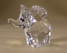 SWAROVSKI CRYSTAL LARGE ELEPHANT FROSTED TAIL 015169 MINT BOXED RETIRED RARE