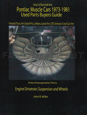 Trans Am and Firebird Parts Interchange Book 1974 1975 1976 1977 1978 1979 1980