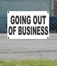 2x3 GOING OUT OF BUSINESS Black & White Banner Sign NEW Discount Size & Price