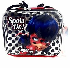 Nickelodeon Miraculous Ladybug Red/Silver Girls Insulated Lunch Bag/Box