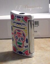 S.T. Dupont MiniJet Torch Lighter, White Day Of The Dead, 10085 New free ship