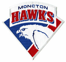 "1993-94 MONCTON HAWKS AHL HOCKEY MINORS 10.25"" JERSEY PATCH FINAL SEASON"