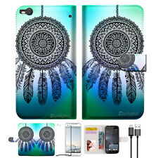 Dream Catcher Wallet TPU Case Cover For HTC ONE X9 -- A026