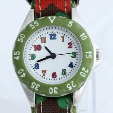 Casual Fabric Strap Kids Boy Girl Learn to time Student Watch Party Gift U32Gr