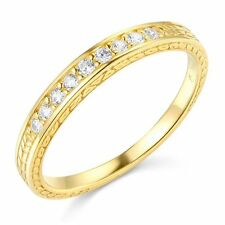14k Yellow OR White Gold SOLID women Wedding Band