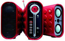 Philips MZ-1100 Mini CD/Tuner Hifi System: Red Rare Retro Rubber VIntage Stereo