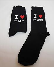 I Love My Wife Mens Novelty Socks Vinyl Printed Christmas Husband Wedding