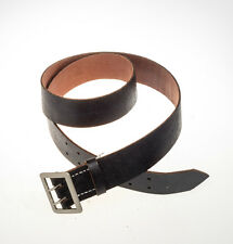 WW II WW2 German Army Military Officer Vintage Black Leather WH Belt