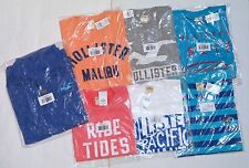 NWT HOLLISTER by A&F LOT OF 6 MEN'S LARGE GRAPHIC T-SHIRT + SWEATSHIRT