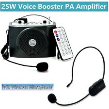25W Voice Booster Amplifier+Remote Control+FM Wireless Microphone For Coaches