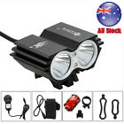 SolarStorm 5000Lm 2x XM-L U2 LED Front Bicycle Bike Torches HeadLight Rear Light