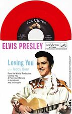 "Elvis Presley - Loving You / Teddy Bear - 7"" US Red Vinyl 45 - New & Unplayed"