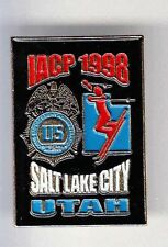 RARE PINS PIN'S .. POLICE USA IACP UTAH GAMES SKI SKIING TEAM ~BF