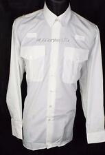 4 Police PC Security Officer Prison Pilot White Long Sleeve Shirt 18 half Collar