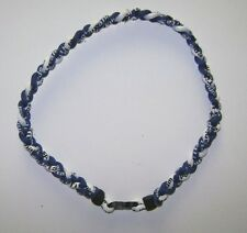 "Indianapolis Colts-3 Rope Paracord Necklace-Titanium Sport-22""Royal Blue & White"