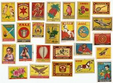 India 1940s-80s Matchbox labels x 500+ different