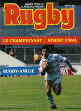 RUGBY No 916 May/Jun 1991 OFFICIAL MAGAZINE OF THE FFR - FRANCE